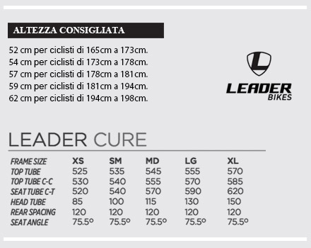 Telaio Leader Cure 2016 Rosso