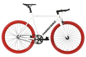 Bicicletta Fixie FabricBike Light White & Red