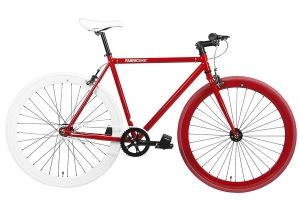 Bicicletta Fixie FabricBike Red & White 2.0