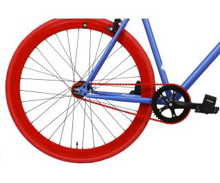 Bicicletta Fixie FabricBike Blue & Red